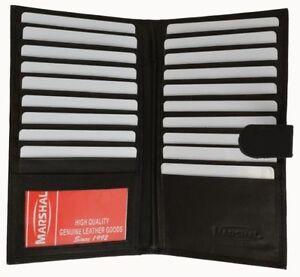 Genuine Leather Men's 19 Slots Credit Card Checkbook Tall Wallet U.s. SELLER