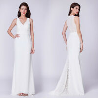 Ever-Pretty Long Evening Dress Cocktail Lace Sleeveless Bridesmaid Dresses 07358