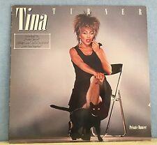 TINA TURNER Private Dancer 1984 VINYL LP + INNER EXCELLENT CONDITION F