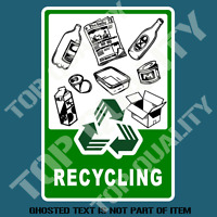 RECYCLE DECAL STICKER COMMERCIAL GARBAGE BIN OH&S SAFETY DECALS STICKERS