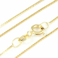 """16-24"""" 0.60mm 14k Yellow Gold Box Chain, (NEW solid Italian necklace) 2202*"""