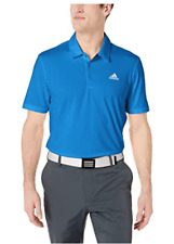 adidas Men's Ultimate Solid Polo-Left Chest blue size XXL
