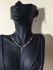 18ct. 18K. 750. Gold Ruby & Diamond Necklace & Earrings
