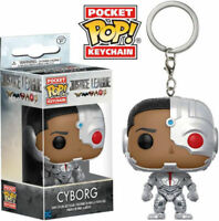 Cyborg Pocket Pop Keychain Official DC Comics Justice League Funko Pop Keyring