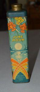 Awesome Art Deco JUNE MOON Talcum Powder tin Selick Parfumeur