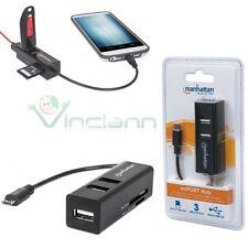 Lettore schede memorie+Hub USB e OTG Manhattan per Samsung Galaxy S6 G920F