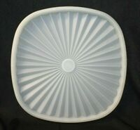 Vintage Tupperware Servalier Square Replacement Lid Seal #859 Sheer White CLEAN!