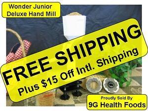Wonder Junior Deluxe Hand Mill by WonderMill - White