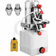 8 Quart Double Acting Hydraulic Pump Dump Trailer 12v Power Plastic