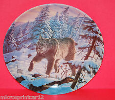 """""""The Linx"""" 1989 The Great Cats of the America's Collector Plate by Lee Cable"""