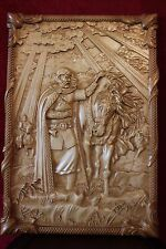 3D Decor Picture Knight Prophetic Oleg. Russian art. Carved in wood size 32""