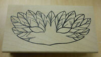 Feathered Mask Rubber Stamp by JudiKins
