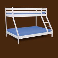 Etagenbett DENIS  Kiefer Massivholz weiß Hochbett Bunkerbett Bett Kinderbett