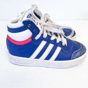 Adidas 'Top Ten' Kids US 9K Boys Girls Basketball Boots Shoes Sneakers m25304