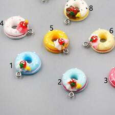 Color 22*17mm 10X Charm Jewelry Doughnut/Bread/Cake Resin Pendant Findings New