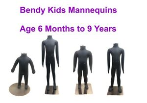 Kids Child Bendy Dummy Mannquins Flexible Movable Posable Soft Pinnable