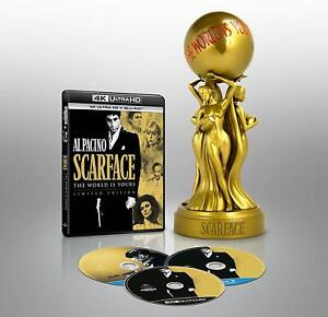 SCARFACE THE WORLD IS YOURS STATUE LIMITED EDITION 4K ULTRA HD + BLU-RAY [NEW]