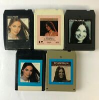 Vintage Crystal Gayle 8 Track Tapes Cartridge Lot of 5 - TESTED