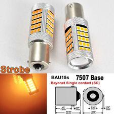 Strobe 7507 BAU15S PY21W 63 LED Projector Amber Bulb Front Signal B1 #12