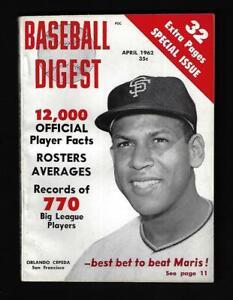 1962 Baseball Digest (Apr), San Francisco Giants Orlando Cepeda - Near Mint