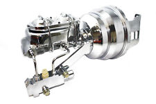 """58-70 Chevy Full Size Car Chrome 8"""" Booster w/ Master Cylinder & Prop. Valve"""