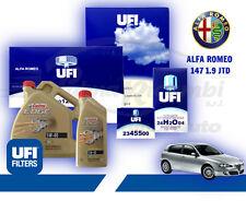 KIT TAGLIANDO ALFA ROMEO 147 GT 1.9 JTD JTDM 5 L CASTROL 5W40 T.DIESEL 4 FILTRI