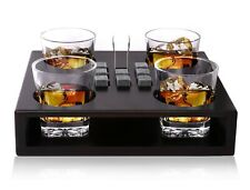 Old Fashioned Whiskey Glasses Set - + 8 Whisky Chilling Stones and accessories