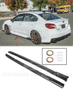 CARBON FIBER Side Skirts For 15-Up Subaru WRX STi CS Version 2 Style Extensions