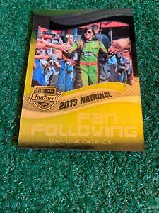 DANIKA PATRICK - 2013 PRESS PASS - NATIONAL - PROMO - VIP - CARD # FFN5 - NASCAR