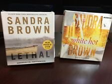 SANDRA BROWN AUDIO BOOKS on CD (2)  LETHAL and WHITE HOT BROWN