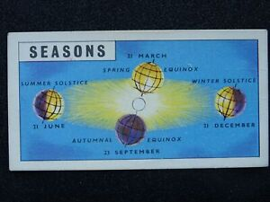 No.5 SEASONS - FOUR QUARTERS Out Into Space by Brooke Bond & Co 1958
