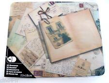 Tapis de souris 3D relief-3D mouse pad.Theme : post card Vintage/cartes postales