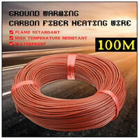 100M 12K Electric Warm Floor Heating Wire Cable Carbon Fiber Underfloor System
