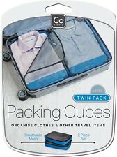 Go Travel Packing Cubes, Large Twin Pack - 2 Pieces Cubes, Travel Organiser Set