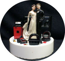 Car AUTO MECHANIC Wedding Cake Topper Groom top Tires Nascar racing Man Cave Fun