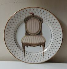 Fitz and Floyd Chaise I Plate Fine Porcelain Hand Painted Chair Plate