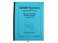Thermal Dynamics CutMaster 50 Plasma Cutting Power Supply Operating Manual *943