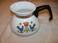 Vintage 1975 Corning Country Festival Friendship Blue Birds Teapot P-104 6 Cup