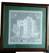 "Ireland Bunratty Castle Irish Lace Framed Matted  24"""