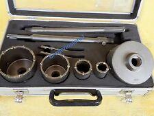 SET FRESE A TAZZA CAROTATRICE DA MURO 30/40/65/80/100mm x TRAPANO SDS MAX/PLUS