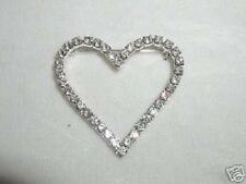 "Gift Austrian Crystal Glittering! 1.5"" Heart Pin Broach Valentines Day"