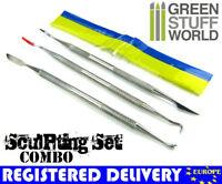 3 pcs Sculpting Tools + 6' Green Stuff -COMBO-. Carver tool Wax Carver Warhammer