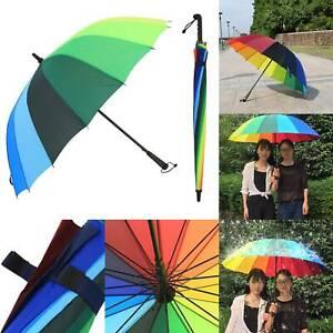 125CM Large Multi-Coloured Rainproof Unisex Umbrella Golf Umbrella Windproof
