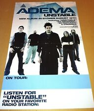 ADEMA 2003 Never Displayed PROMO POSTER For Unstoppable CD USA MINT 25 x 15
