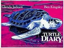 TURTLE DIARY Movie POSTER 27x40 UK Ben Kingsley Glenda Jackson Richard Johnson