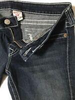 TRUE RELIGION Women's SZ 30 JOEY TWISTED FLARE Front Faux / Rear Flap Pocket