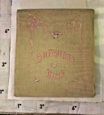 1922 Baby Book Detroit MI Brysselbact Vinewood Av Some Writing Throughout Aged