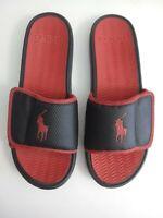 Polo Ralph Lauren Men's Rodwell Pool Slides Sandals Size 11 D Black Red