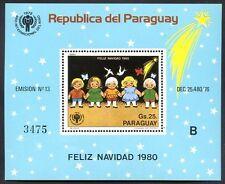 PARAGUAY - CHRISTMAS Mi # Bl 355 B, MNH