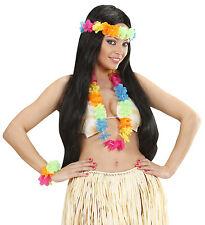 Set Floreale Costume Hawaiana Colori Vivaci  PS 08336 Hawaiano